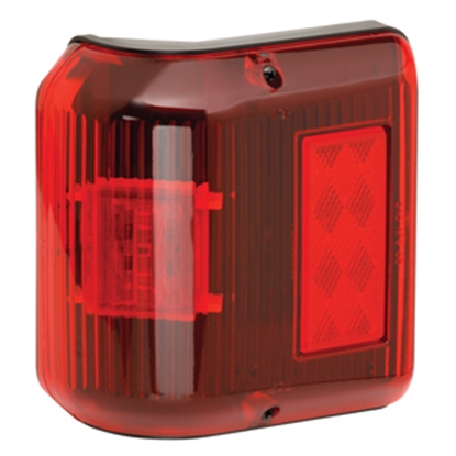 "Picture of Bargman 86 Series Red 5-3/4""x4-3/8""x2-3/16"" LED Side Marker Light 48-86-202 18-0146"
