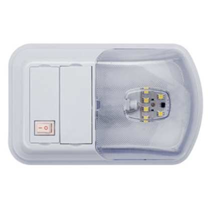 Picture of Starlights LITECO White w/Clear Lens Ceiling Mount Interior Light w/Switch 016-BL3002 18-0177