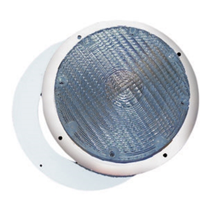 Picture of Command  White w/Clear Lens Round Porch Light 007-42 18-0190
