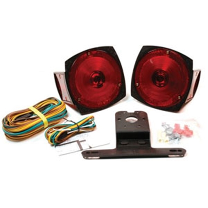 "Picture of Grote  Red 5-1/2"" x3-3/8"" Stop/ Turn/ Tail Light 65190-5 18-0244"
