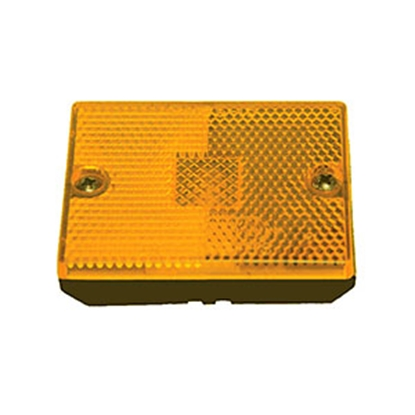 "Picture of Peterson Mfg.  Amber 2-3/4"" x 2-1/8"" x 1"" Clearance Side Marker Light E114A 18-0253"