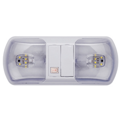 Picture of Starlights LITECO White w/Double Clear Lens Ceiling Mount Interior Light w/Switch 016-BL3003 18-0286