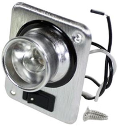 Picture of Arcon  Aluminum 12V Halogen Single Square Aircraft Reading Light w/Switch 17795 18-0319