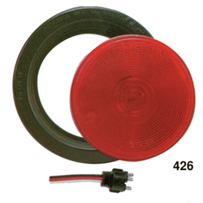 """Picture of Peterson Mfg.  Red 4-1/4"""" Stop/ Turn/ Tail Light V426R 18-0327"""