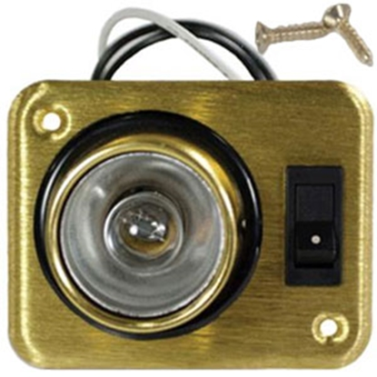 Picture of Arcon  Brass 12V Halogen Single Square Aircraft Reading Light w/Switch 18087 18-0355