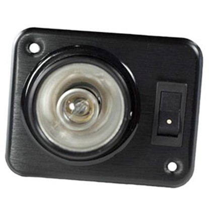 Picture of Arcon  Black 12V Halogen Single Square Aircraft Reading Light w/Switch 18086 18-0367
