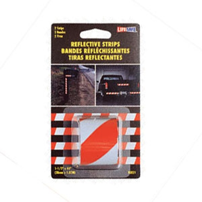 """Picture of Top Tape  Red/Silver 1-1/2"""" x 40"""" Roll Reflective Taper RE821 18-0369"""