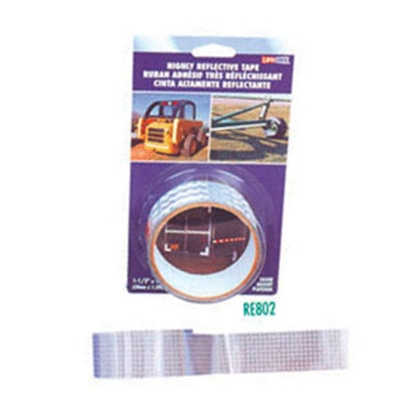 "Picture of Top Tape  Silver 1-1/2"" x 4' Roll Reflective Tape RE802 18-0373"