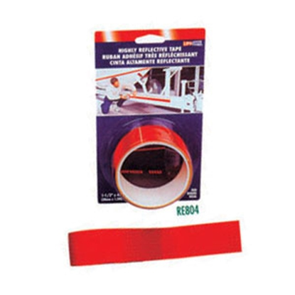 "Picture of Top Tape  Red 1-1/2"" x 4' Roll Reflective Tape RE804 18-0374"
