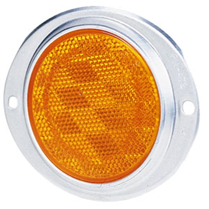 "Picture of Peterson Mfg.  3"" Round Amber Screw Mount Reflector w/ Aluminum Housing V472A 18-0380"