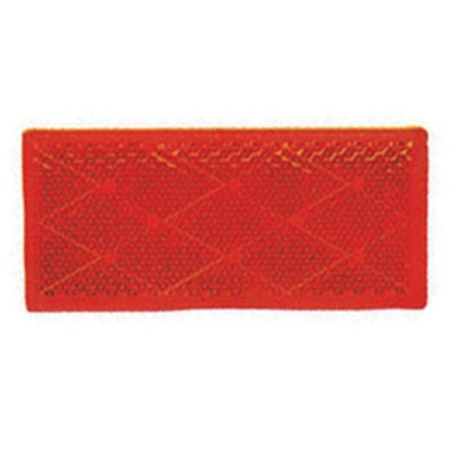 """Picture of Peterson Mfg. Quick Mount 3-1/8""""x1-3/8"""" Rectangular Red Stick-On Reflector V483R 18-0393"""
