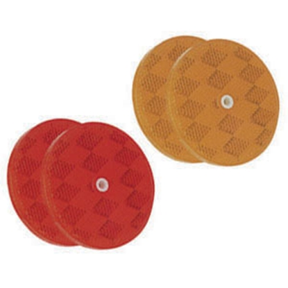 "Picture of Bargman  2-Pack 3-3/16"" Round Red Screw Mount Reflector 74-68-010 18-0397"