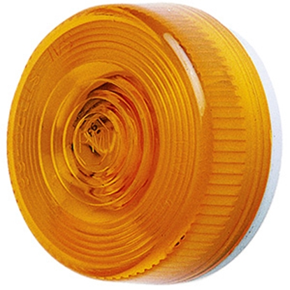 "Picture of Peterson Mfg.  Amber 2-1/2"" Dia x 1-1/8""H Clearance Side Marker Light M104A 18-0425"