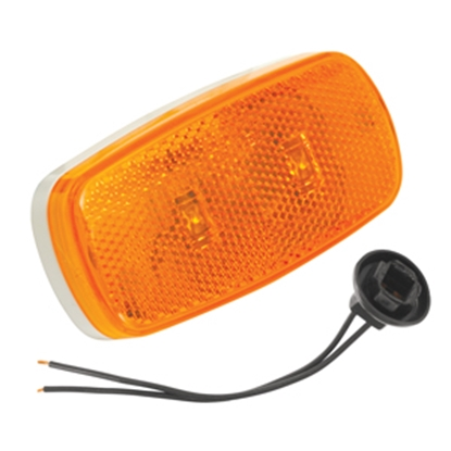 "Picture of Bargman 59 Series Amber 4""x2""x1-1/32"" LED Side Marker Light 42-59-402 18-0459"