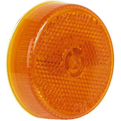 "Picture of Peterson Mfg.  Amber 2-1/2"" Dia Clearance Side Marker Light V143A 18-0494"