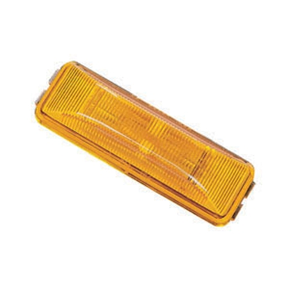 "Picture of Peterson Mfg.  Amber 3-13/16""L x 1-1/4""W x 7/8""D Clearance Side Marker Light V154A 18-0524"