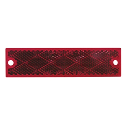 """Picture of Peterson Mfg.  4-3/8""""x1-1/8"""" Rectangular Red Screw Mount Reflector V487R 18-0548"""