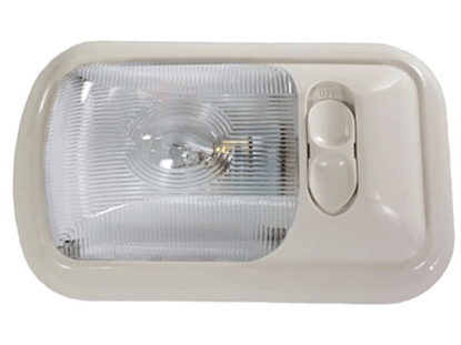 Picture of Arcon  Colonial White w/Clear Lens Single Euro Style Dome Light 18014 18-0637