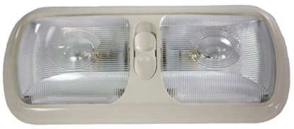 Picture of Arcon  Colonial White w/Clear Lens Double Euro Style Dome Light 18015 18-0641