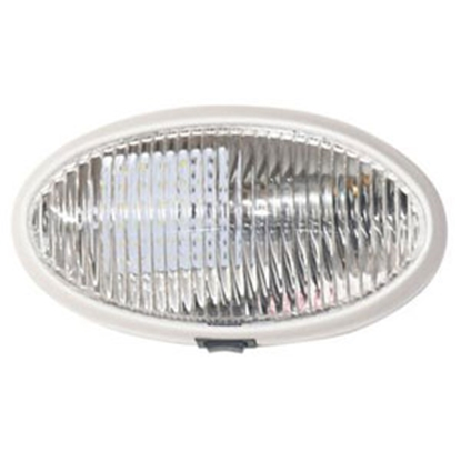 Picture of Diamond Group  Clear Oval Porch Light w/Switch 52730 18-0694