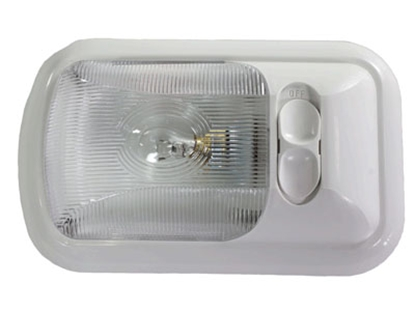 Picture of Arcon  White w/Clear Lens Single Euro Style Dome Light 18122 18-0782