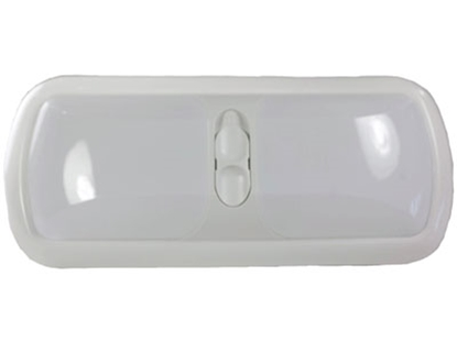 Picture of Arcon  White w/White Lens Double Euro Style Dome Light 18123 18-0783