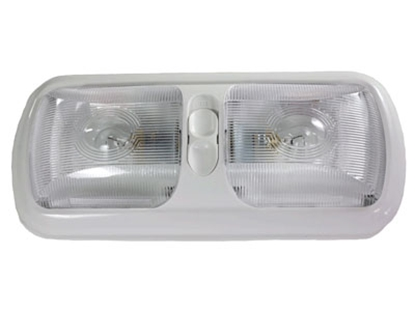 Picture of Arcon  White w/Clear Lens Double Euro Style Dome Light 18124 18-0784