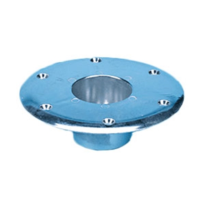 "Picture of CP Products  6-1/4"" Round Recessed Flush Mount Table Leg Base 48732 18-0794"