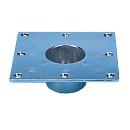 "Picture of CP Products  5.94""L x 5.94""W Square Recessed Flush Mount Table Leg Base 48733 18-0795"