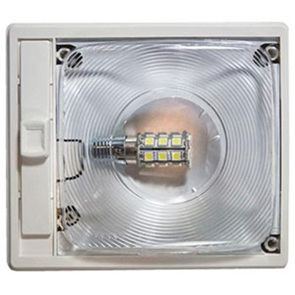 "Picture of Arcon  6-1/4"" x 5-1/2"" Single Clear Lens Ceiling Mount LED Interior Light w/Switch 20667 18-0840"