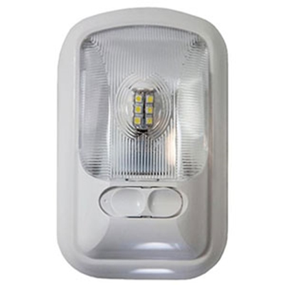 """Picture of Arcon  8"""" x 4-3/4"""" Single Clear Lens Ceiling Mount LED Interior Light 20669 18-0842"""