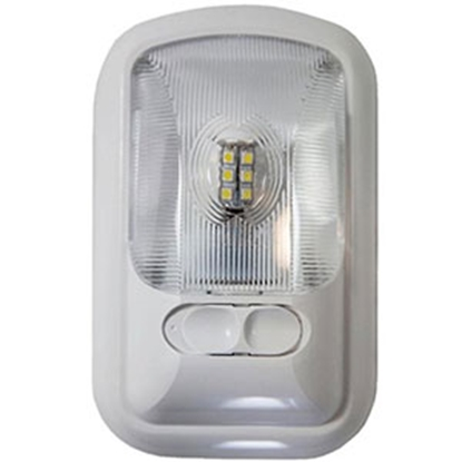 Picture of Arcon  White w/Clear Lens Single Euro Style LED Dome Light 20711 18-0861