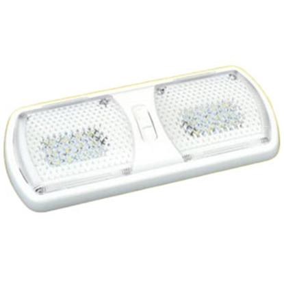 Picture of Thin-Lite  Clear Lens Double Warm White LED Dome Light DIST-LED312-1WW 18-0932