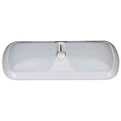 Picture of Arcon  Bright White w/ White Lens Double Euro Style LED Dome Light 51267 18-0935
