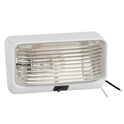 Picture of Bargman 78 Series Clear White Base Porch Light w/ Switch 34-78-517 18-1006