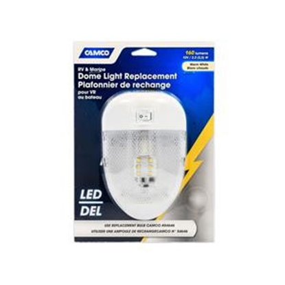 Picture of Camco  Clear Lens Single LED Dome Light 41331 18-1058
