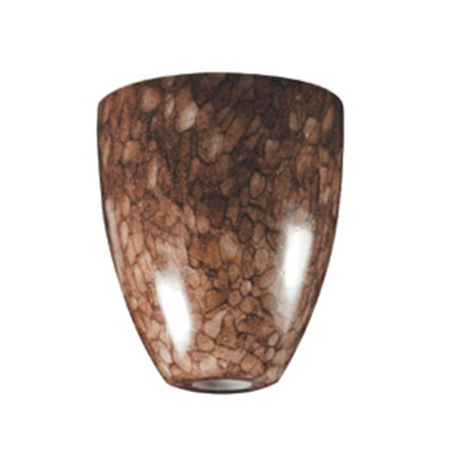 """Picture of ITC  Coffee Bean 5.5"""" H Traditional Shape Glass Pendant Light Shade 2089-CB-DB 18-1341"""
