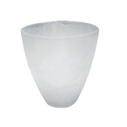 """Picture of ITC  White Alabaster 4.5"""" H Tumbler Shape Glass Pendant Light Shade 300 GLASS 18-1343"""