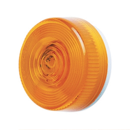"Picture of Peterson Mfg.  Amber 2.8""Dia x 1.14""H Clearance Side Marker Light V102A 18-1402"