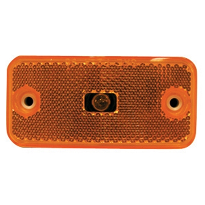 "Picture of Peterson Mfg.  Amber 3.875""L x 1.875""W x 0.813""D Clearance Side Marker Light V2548A 18-1427"