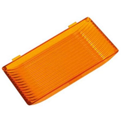 Picture of Green LongLife  Amber Rectangular Porch Light Lens for Ming's Mark 9090119/9090120 9090128 18-1454