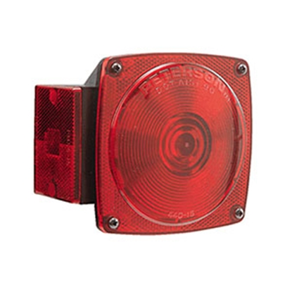 "Picture of Peterson Mfg.  Red 4-3/4""x4-1/2"" Stop/ Turn/ Tail/ Rear Light E440 18-1780"