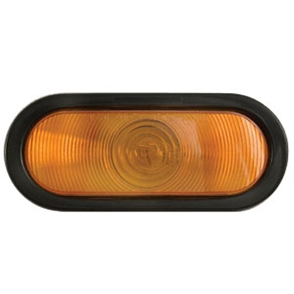 "Picture of Optronics  Amber 6"" Oval Stop-Turn-Tail Light Only ST-74ABP 18-1862"