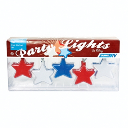 Picture of Camco  Patriotic Stars 10 Light Set Patio Lights 42656 18-2029