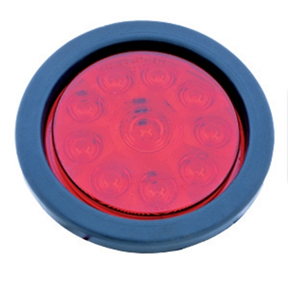 "Picture of Diamond Group  Red 4-1/4"" x3/4"" Round 10-LED Stop/ Turn Light 52447 18-2227"