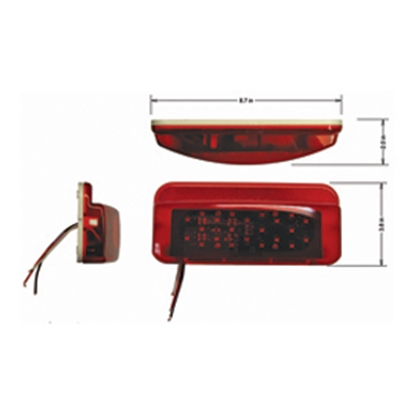 Picture of Command Command (R) LED Tail Light Assembly w/Bracket 003-81LM1 18-2271