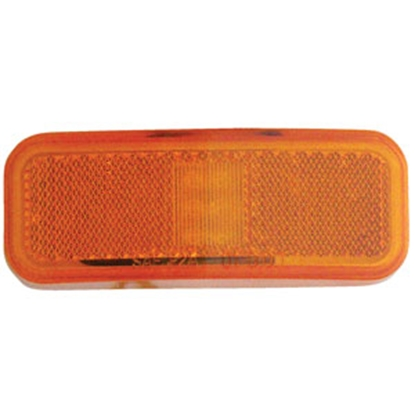 "Picture of Diamond Group  Amber 4""W x 1.5""H LED Side Marker Light 52718 18-2286"