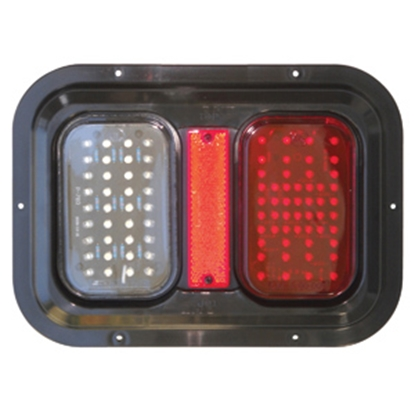 "Picture of Diamond Group  Amber/Red 11""x8""x1-1/4"" 104 LED Stop/ Turn/ Tail Light 52721 18-2290"