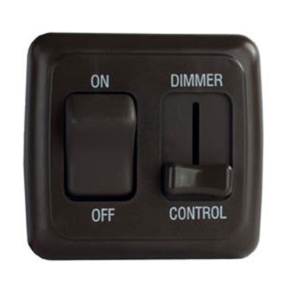 Picture of Diamond Group  Black 15A/ 12V Pulse Wave Modulation Dimmer Switch LDSDIM25 18-5032