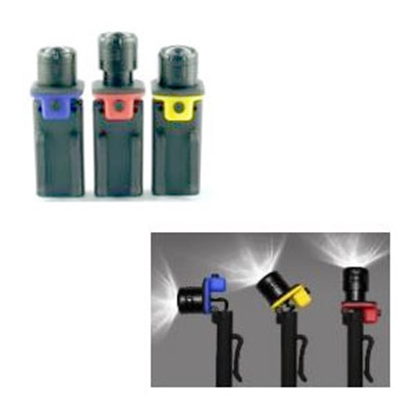 Picture of Green LongLife  Black LED Battery Operated Handheld Flashlight GW29006 18-8972